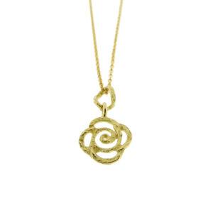 Collier rosa oro giallo (N37)