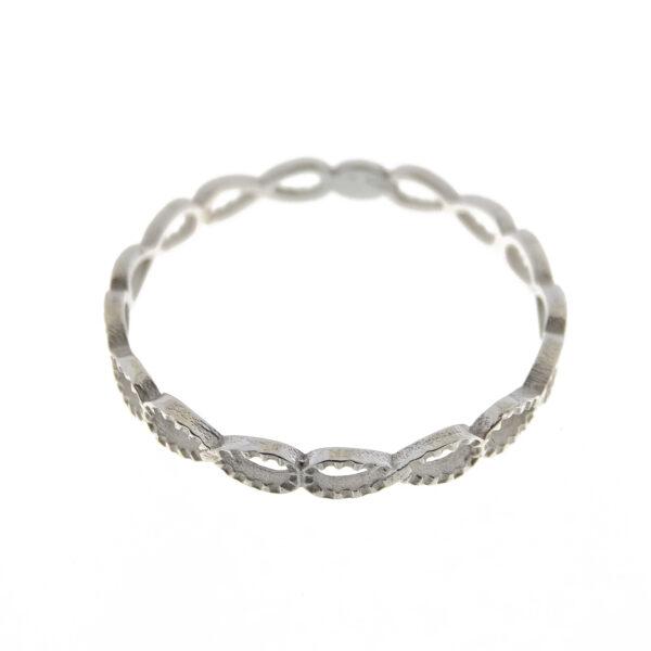 Anello infinito oro bianco (E561-OB)