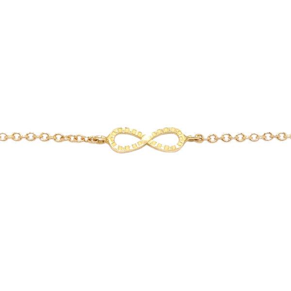 Bracciale oro giallo infinito (E561_Br)