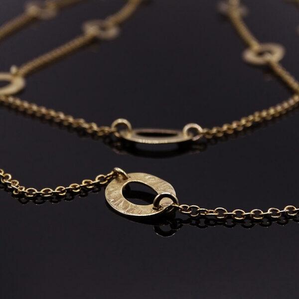 Catena con cerchi in argento dorato (NA_E510.a_Co_O) dettaglio